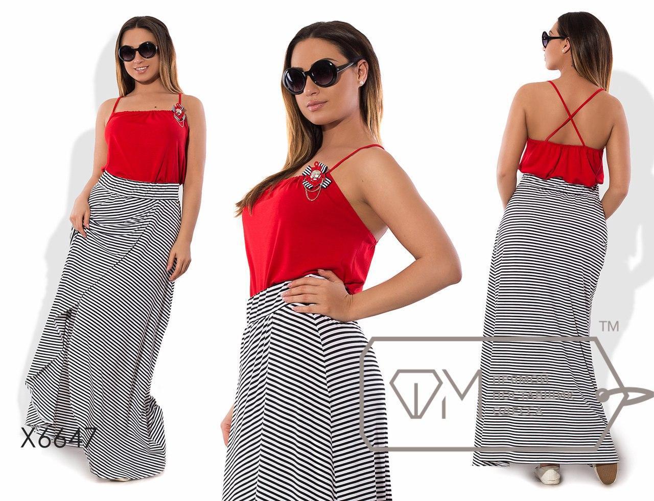 Модный женский костюм большого размера к-taba51401