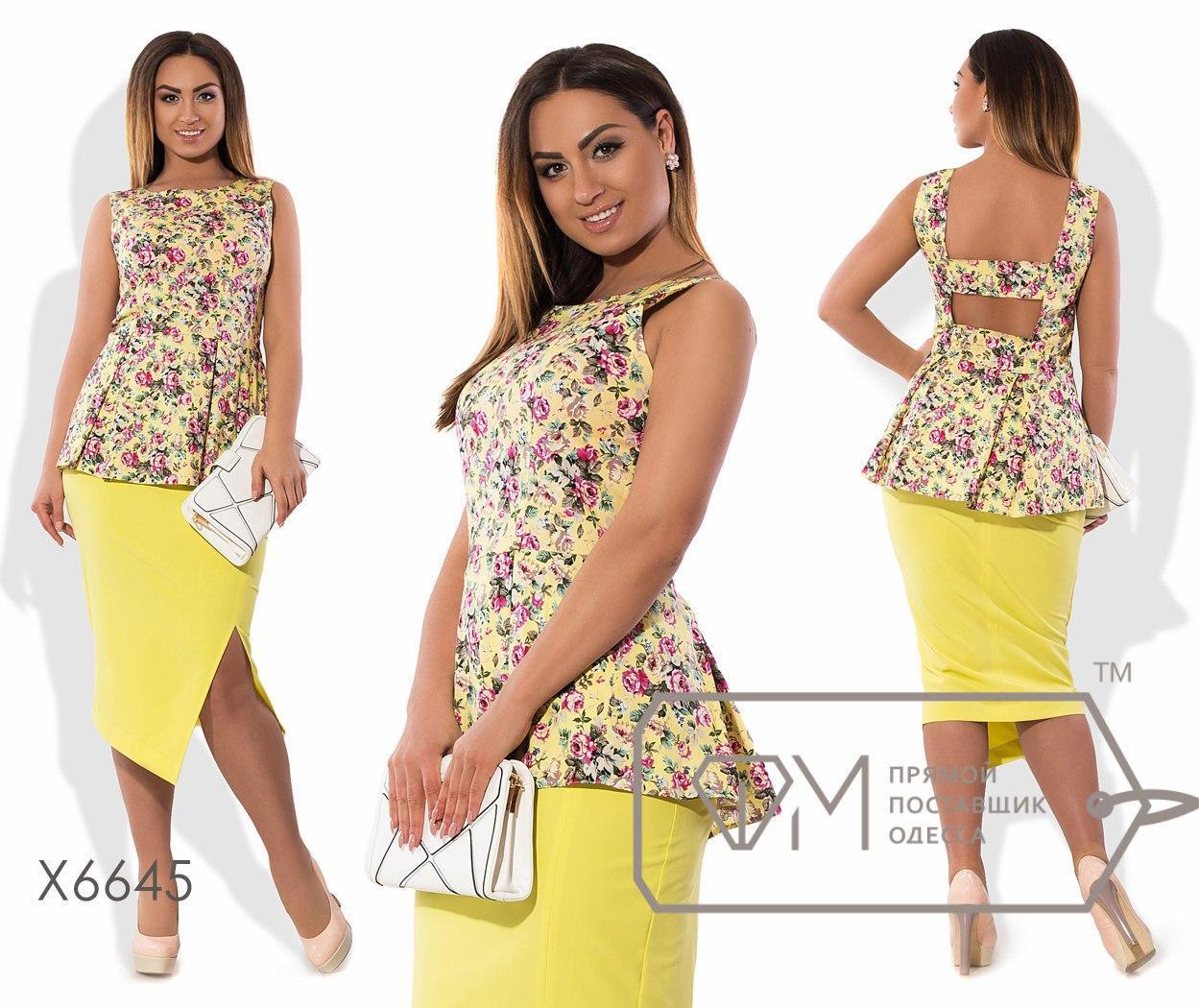 Модный женский костюм большого размера у-taba51402