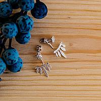 Серебряные серьги-джекеты #, фото 1