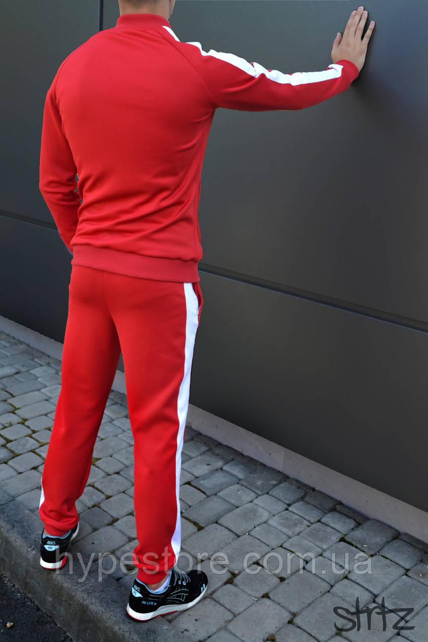 3b67ecbd25f3 Мужской спортивный костюм с полосками Puma, красный (акция), Реплика, фото 2