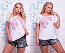 Женская футболка с надписью в больших размерах f-t9ba14, фото 4