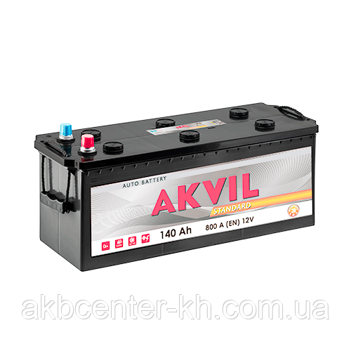 Аккумуляторы для грузовиков автомобилей AKVIL STANDARD 6CT-140Aз 800A L
