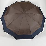 Зонт женский полуавтомат 3 сложения с каймой S.L., фото 1