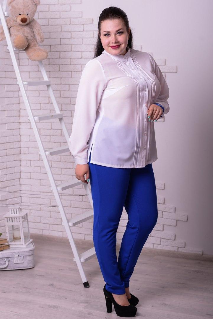 Женская шифоновая рубашка в расцветках (48+р) r-t10ba19