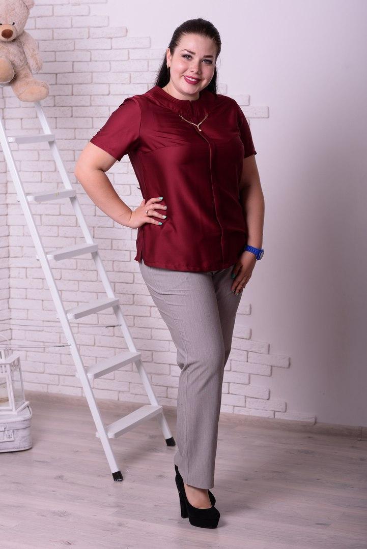 Женская блуза с коротким рукавом (батал) e-t10ba18