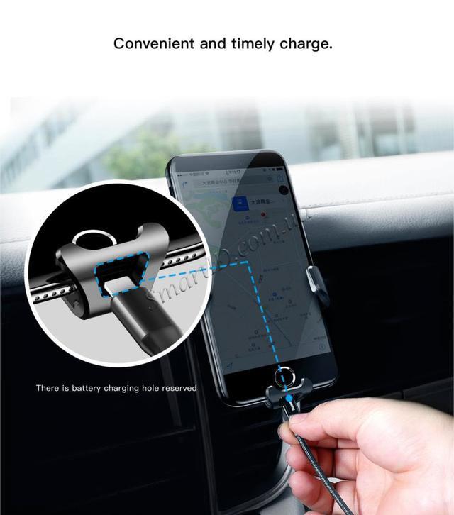 Универсальный автомобильный держатель док-станция Baseus для телефона Car Holder Gravity