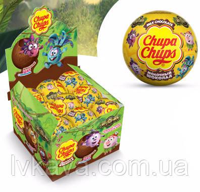 Шоколадный шар Смешарики Chupa Chups с сюрпризом , 20 g X 18 шт