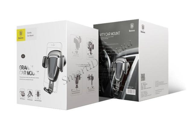Универсальный автомобильный держатель док-станция Baseus для телефона Car Holder Gravity Упаковка
