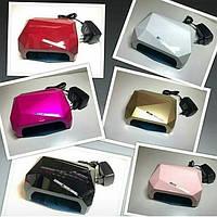 УФ LED+CCFL лампа для гель-лаков и геля Многогранник с таймерами 10, 30 и 60 сек (36 Вт), гибридная лампа.