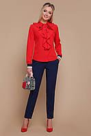 Красива блуза з воланами з софту, фото 1
