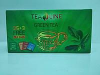 Чай ті-лайн зелений 25+3 пакети . Tea-Line Green Tea