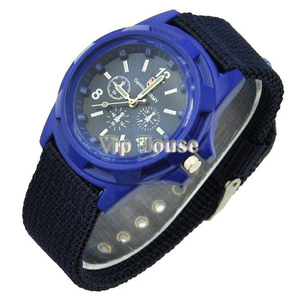 Чоловічі наручні годинники Армія чорний, хакі, синій кольори