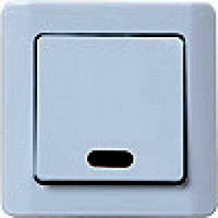"""ВС10-1-1-ГЖ Выключатель одноклавишный со свет. индикацией (в сб.) """"жемчужный металлик"""""""