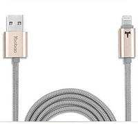 Кабель в оплетке Yoobao Reversible Lightningl USB cable YB-408, gold