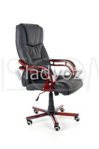 Кресло компьютерное офисное на прорезиненных колесиках Calviano Prezydent черный