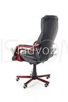 Кресло компьютерное офисное на прорезиненных колесиках Calviano Prezydent черный, фото 3