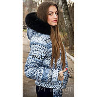 Женская зимняя куртка без резинки, фото 1
