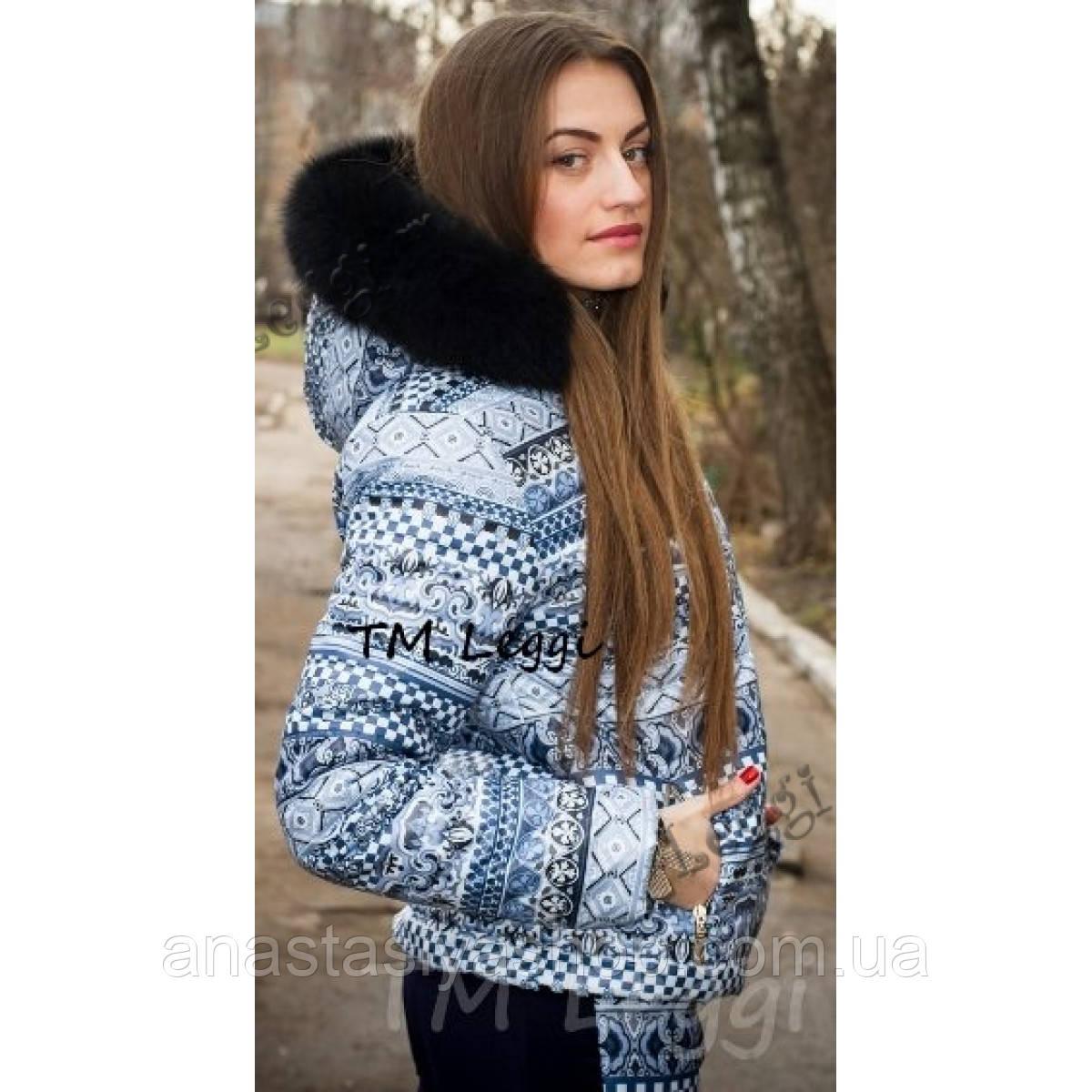 Женская зимняя куртка без резинки