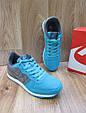 Женские Кроссовки в стиле  Nike Air Berwuda замшевые бирюзовые с серым, фото 5