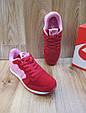 Женские Кроссовки в стиле  Nike Air Berwuda замшевые малиновые с розовым, фото 2