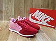 Женские Кроссовки в стиле  Nike Air Berwuda замшевые малиновые с розовым, фото 3