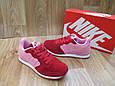 Женские Кроссовки в стиле  Nike Air Berwuda замшевые малиновые с розовым, фото 5