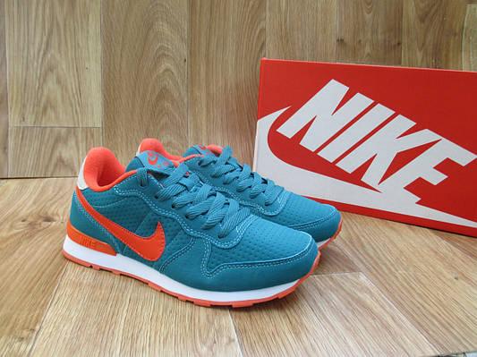Женские Кроссовки в стиле  Nike Air Berwuda замшевые бирюзовые