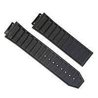 Ремешок каучуковый для наручных часов Hublot, черный, 26x24 мм