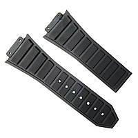 Ремешок каучуковый для наручных часов Hublot, черный, 30x22 мм