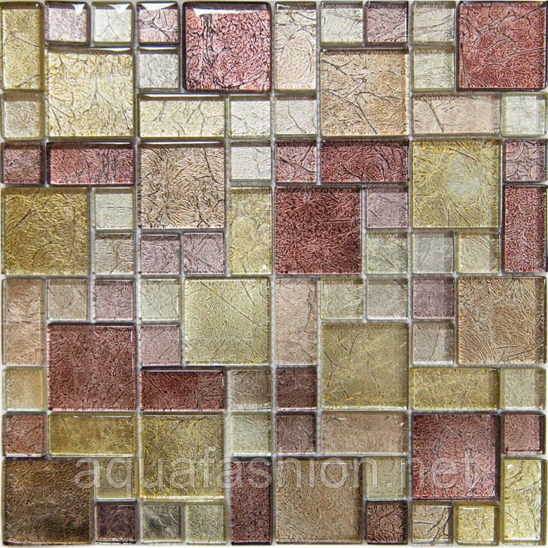 Мозаїка, скляна, Vivacer GM01 коричнева