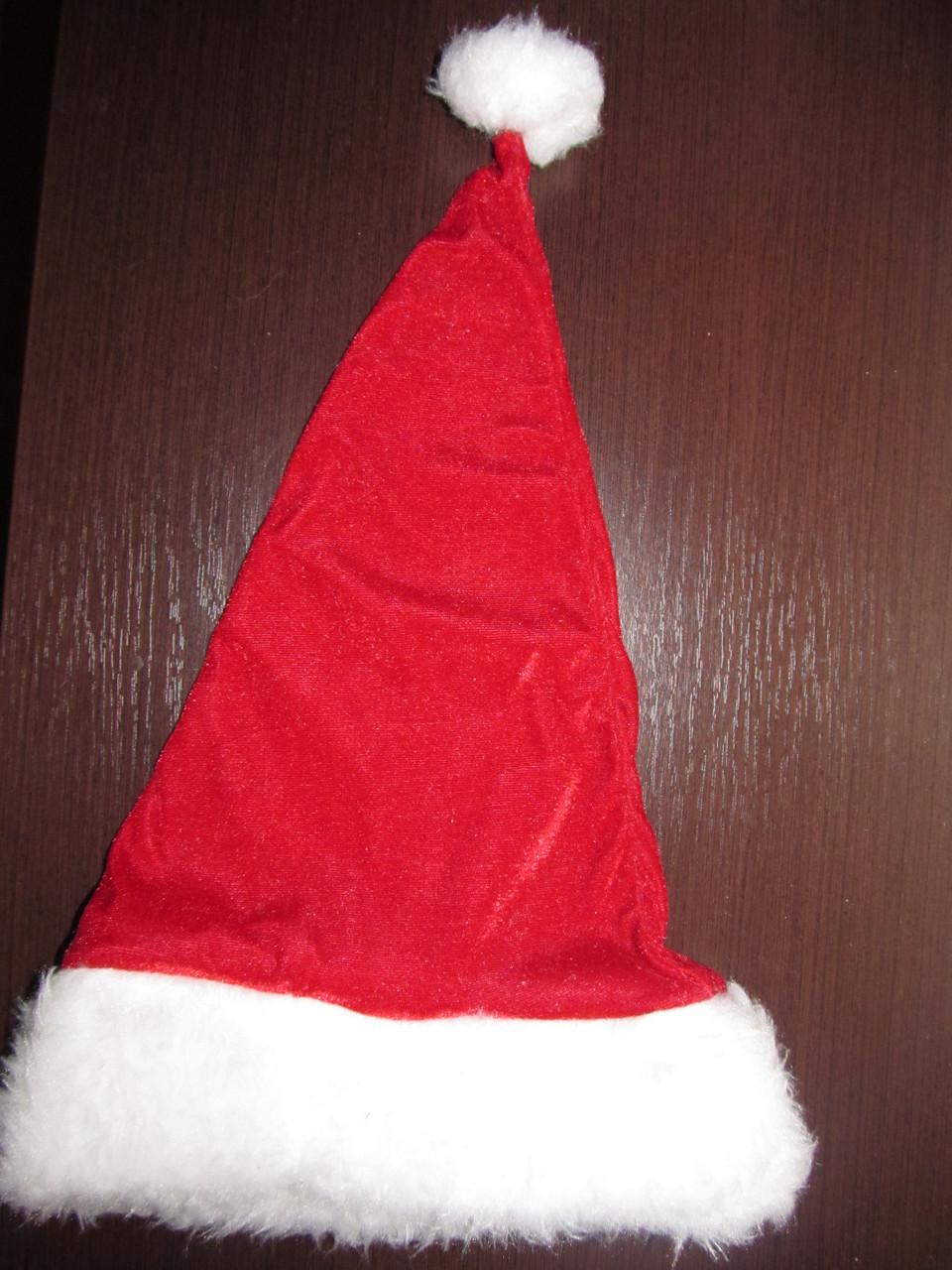 Шапка Деда Мороза с меховой отделкой, красная