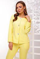 Пиджак женский, цвет: лимон, размер: 42, 44, 46