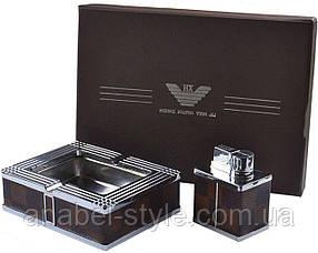 Подарочный набор 2в1 зажигалка и пепельница №1416 Код 121779
