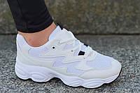 Кроссовки женские, подростковые белые в стиле Nike очень модные, популярные (Код: Б1207)