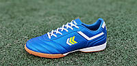 Сороконожки, бампы, кроссовки для футбола синие износостойкая синтетическая кожа удобные (Код: М1210)