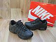 Женские Кроссовки в стиле  Nike Air Max 95 черные кожа, фото 2