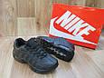 Женские Кроссовки в стиле  Nike Air Max 95 черные кожа, фото 4
