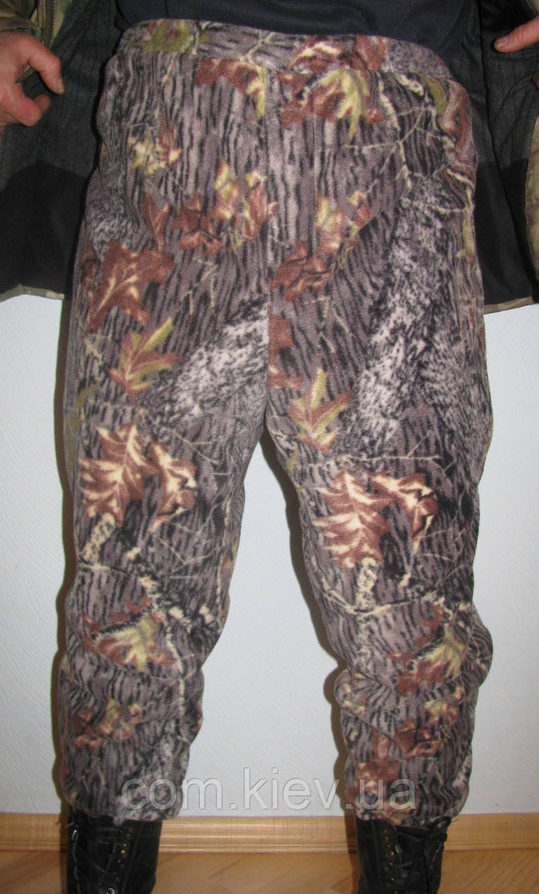 Мужские камуфлированные штаны из флиса  (дубок)