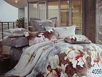 Сатиновое постельное белье евро ELWAY 4056