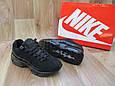 Женские Кроссовки в стиле  Nike Air Max 95 черные нубук, фото 3
