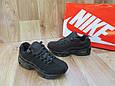 Женские Кроссовки в стиле  Nike Air Max 95 черные нубук, фото 5