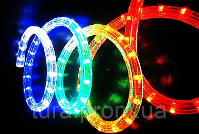 cba5fc4ee Дюралайт Светодиодный Круглый LED 20 м Цвета Белый Мульти: купить в ...