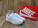 Женские Кроссовки в стиле Nike Air Max 97 белые кожа
