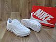 Женские Кроссовки в стиле Nike Air Max 97 белые кожа, фото 2
