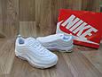 Женские Кроссовки в стиле Nike Air Max 97 белые кожа, фото 4