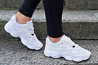 Кроссовки женские, подростковые белые в стиле Nike очень модные, популярные (Код: М1207а) Только 37 и 38р!