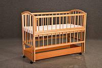 """Кроватка детская """"Малютка с продольным маятником + откидной бок"""", фото 1"""