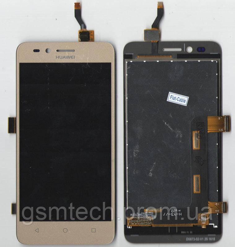 Дисплей с сенсором (модуль) для Huawei Y3 II 3G LUA-U03/U22/U23/L03/L13/L23 золотого цвета