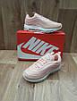 Женские Кроссовки в стиле  Nike Air Max 97 (Топ Качество) розовые кожа+сетка, фото 4
