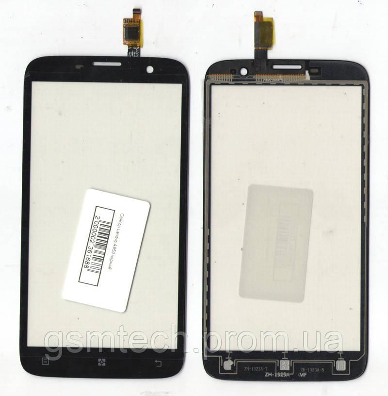 Сенсор (Тачскрин) для Lenovo A850 черного цвета